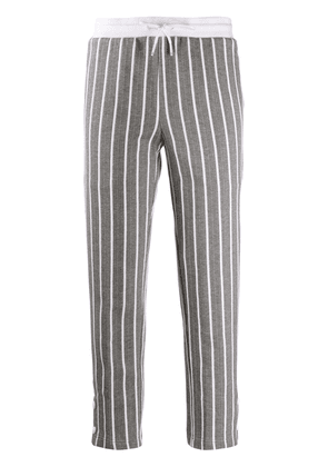 Thom Browne stripped cropped track pants - Grey