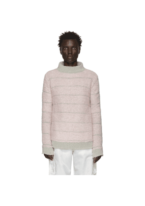 Eckhaus Latta Grey and Pink Poodle Sweater