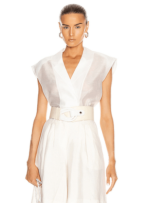 REMAIN West Sleeveless Shirt in Bright White - White. Size 38 (also in ).