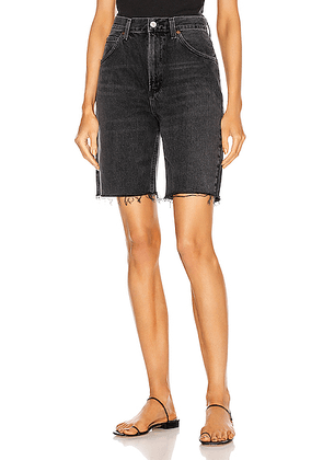 AGOLDE Pinch Waist Short in Paranormal - Black. Size 24 (also in 25).