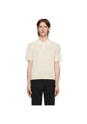 Second/Layer Off-White Knit Polo