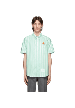 Thom Browne Green Oxford Basketball Shirt
