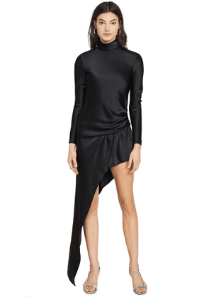 Alexander Wang Exposed Leg Turtleneck Dress
