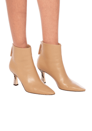 Wandler 'Lina' Heeled Ankle Boots Women's Beige