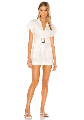 Misha Collection Florentina Playsuit in White. Size 4,6,8,10.