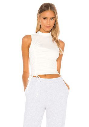 superdown Halsey Ruched Racer Top in White. Size XS,S,M,L,XL.