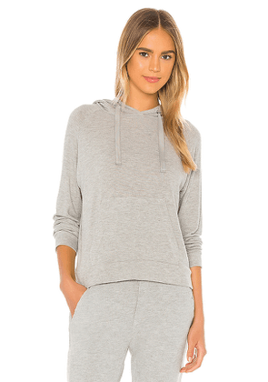 Enza Costa Peached Jersey Easy Hoodie in Grey. Size M,L.