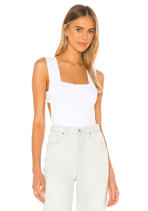 Free People Oh She's Strappy Bodysuit in White. Size S,M,L.