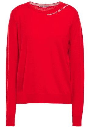 Autumn Cashmere Embroidered Cashmere Sweater Woman Red Size XS
