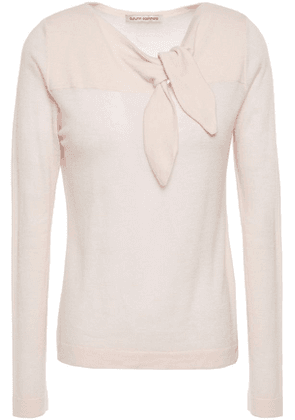 Autumn Cashmere Knotted Cashmere Top Woman Pastel pink Size XS