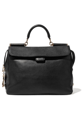 Dolce & Gabbana Textured-leather Tote Woman Black Size --