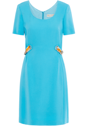 Emilio Pucci Chain-embellished Stretch-crepe Mini Dress Woman Turquoise Size 38