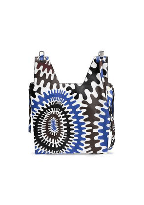 Emilio Pucci Zip-detailed Printed Leather Tote Woman Blue Size --