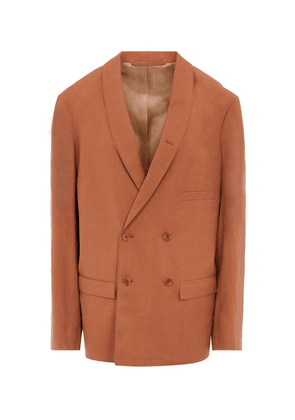 Fluid Double-Breasted Blazer