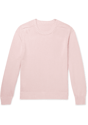 Anderson & Sheppard - Slim-Fit Cotton Sweater - Men - Pink