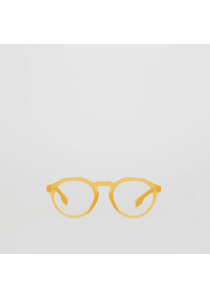 Burberry Keyhole Round Optical Frames, Yellow