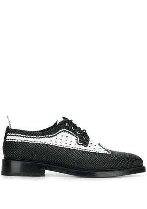 Thom Browne woven leather brogues - Black