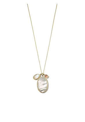 IPPOLITA 18kt yellow gold Rock Candy® Luce 3-stone pendant necklace -