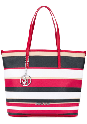 Armani Jeans striped shopper tote - Multicolour