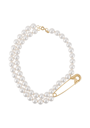 Wouters & Hendrix pin-embellished double-strand pearl necklace - White