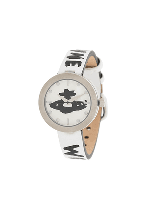 Vivienne Westwood Orb logo watch - White