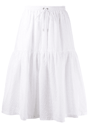 Markus Lupfer broderie anglaise tiered skirt - White