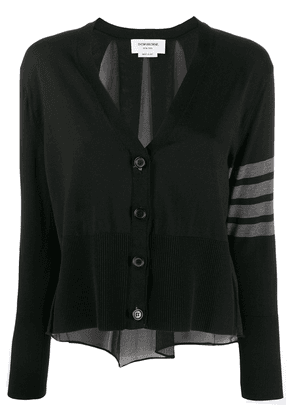 Thom Browne sheer detail cardigan - Black