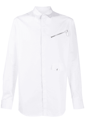 Dsquared2 zip-detail fitted shirt - White