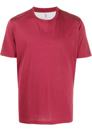 Brunello Cucinelli relaxed-fit short-sleeved T-shirt - PINK
