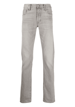 Tom Ford washed-effect slim-fit jeans - Grey