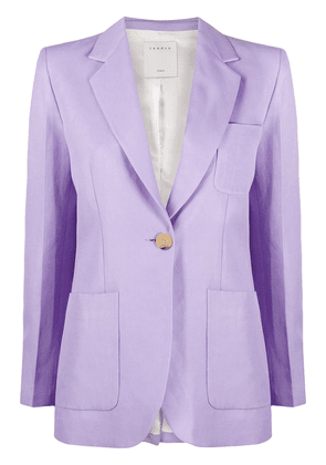 Sandro Paris Edie single-breasted blazer - PURPLE