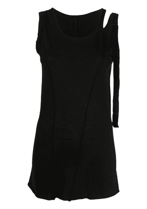 Masnada cut-out detail side buckle vest top - Black