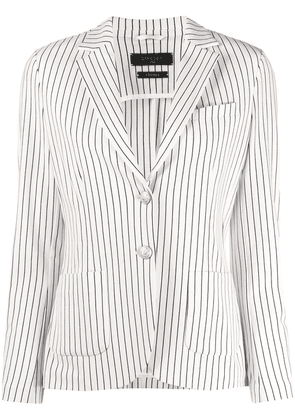 Circolo 1901 striped tailored blazer - White