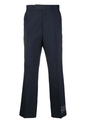 Gucci Gucci Orgasmique cropped trousers - Blue
