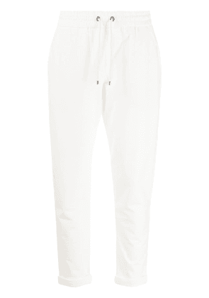 Brunello Cucinelli drawstring cropped trousers - White