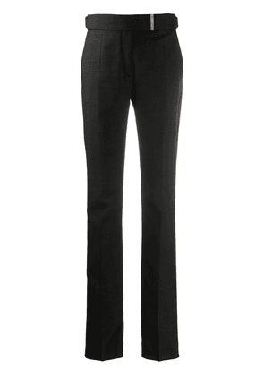 Tom Ford belted slim tailored trousers - Black
