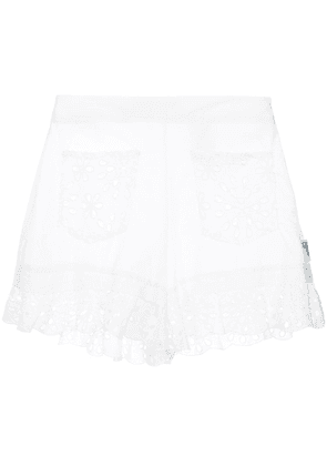 Love Moschino broderie anglaise shorts - White