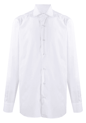 Barba long-sleeve fitted shirt - White