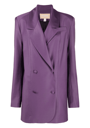 Matériel straight-fit blazer - PURPLE