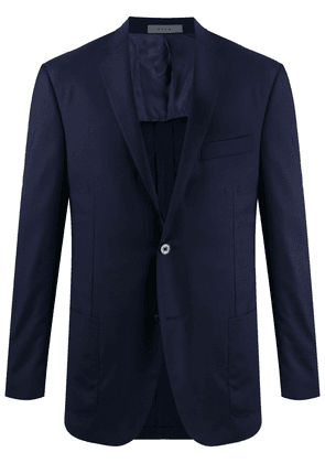Corneliani single-breasted fitted blazer - Blue
