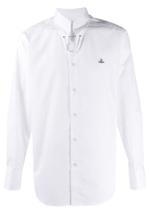 Vivienne Westwood Clip logo embroidered shirt - White