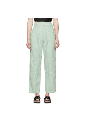 Low Classic Green Garment-Dyed Trousers
