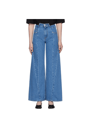 Maison Margiela Blue Decortique Asymmetric Wide-Leg Jeans