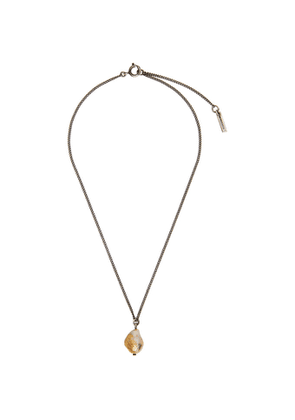 Ann Demeulemeester Silver Single Pearl Necklace
