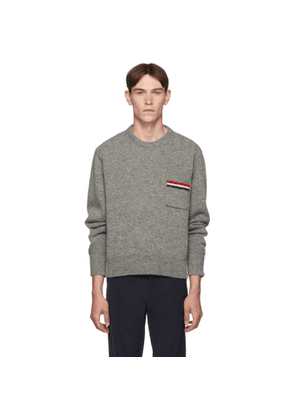 Thom Browne Grey Relaxed-Fit Pullover Sweater