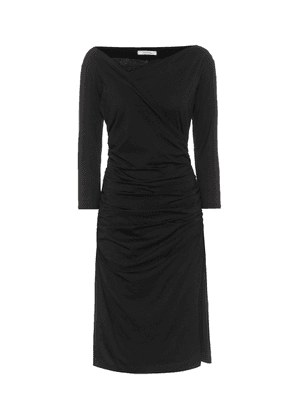 Fascinating Drapes ruched cotton-blend midi dress