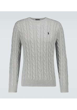 Cotton cable knitted sweater