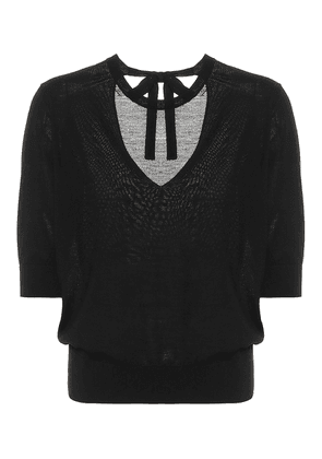Sophisticated Softness wool and silk knit top