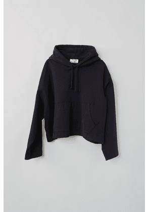 Acne Studios Joghy Emboss Black  Embossed-logo hooded sweatshirt