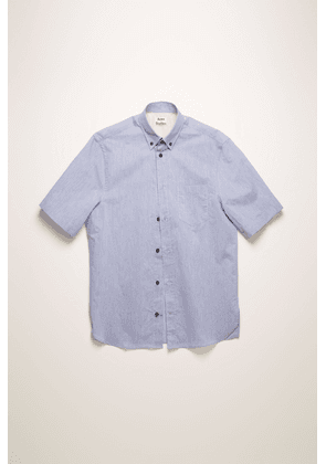 Acne Studios FN-MN-SHIR000178 Blue/white  Short-sleeved cotton-blend shirt